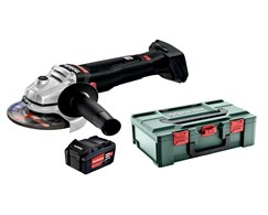 Aktion 17: Akku-Winkelschleifer WB 18 LTXBL125 Q SE + metaBOX + Akku-Pack 18 V 5,2 Ah Li-Power Metabo