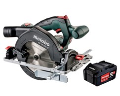 Aktion 19: Akku-Handkreissäge KS 18 LTX 57 Pick+Mix +  Akku-Pack 18 V 5,2 Ah Li-Power Metabo